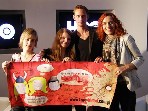 Alexander at HBO Poland's True Blood premiere