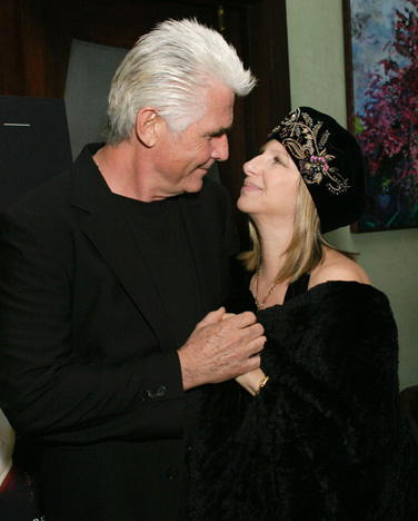 Barbra Streisand 바탕화면 probably with a 모피 코트 titled Barbra and James Brolin