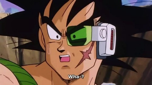 Bardock looking suprised