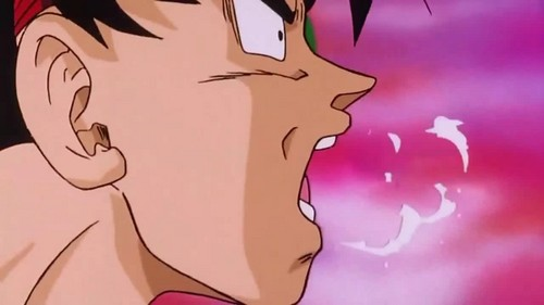 Bardock punched in the gut.