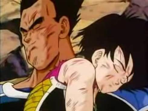 Bardock's comrads, but also his best friend and wife-dead on the floor...