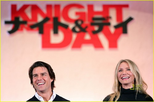 Cameron Diaz & Tom Cruise Team Up In Tokyo
