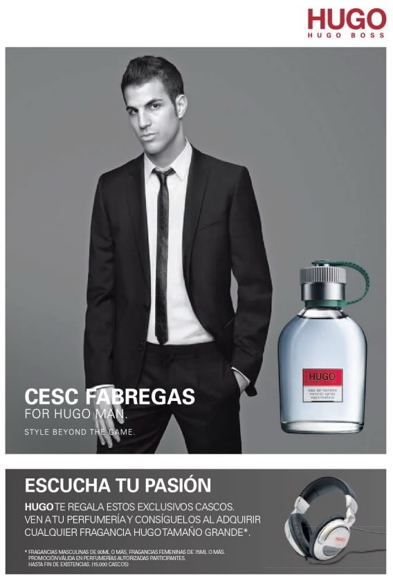 Cesc Fabregas for Hugo Boss