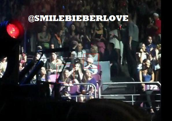 Chris,Ryan,Caitlin & Chaz in Justin concert