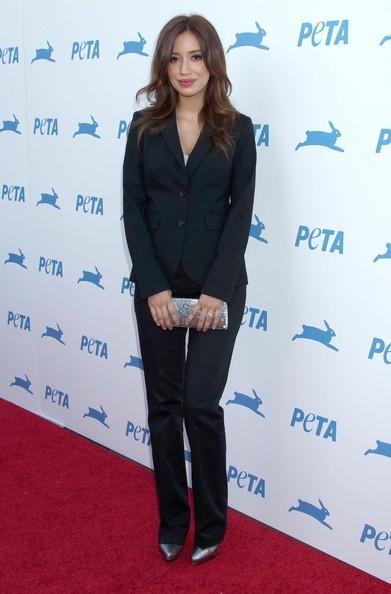 Christian Serratos Honored At PETA's 30th Anniversary Gala & Humanitarian Awards!