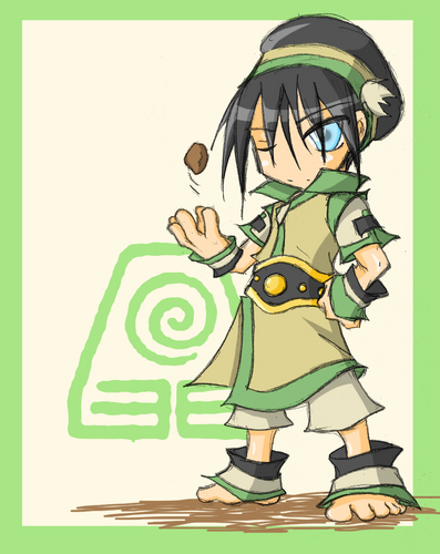Cute and চিবি Toph! :3