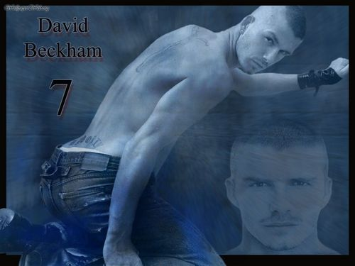 David Beckham in blue!