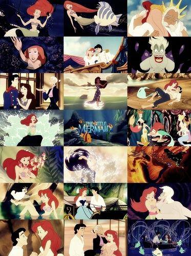ディズニー Princess movie collage