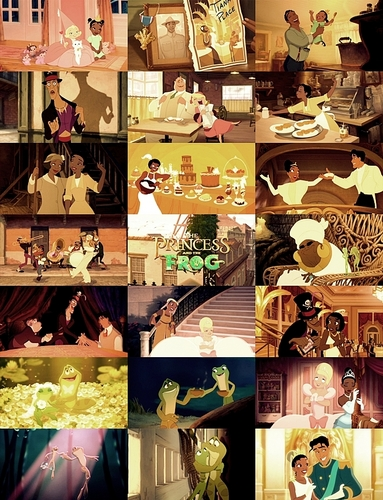 ディズニー Princess movie collage