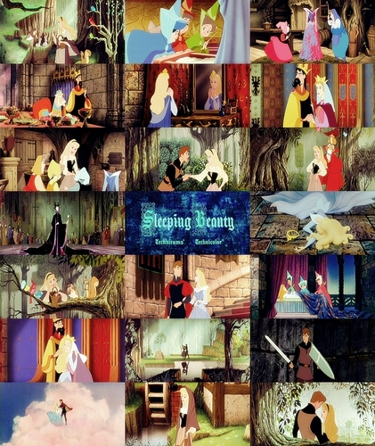 迪士尼 Princess movie collage