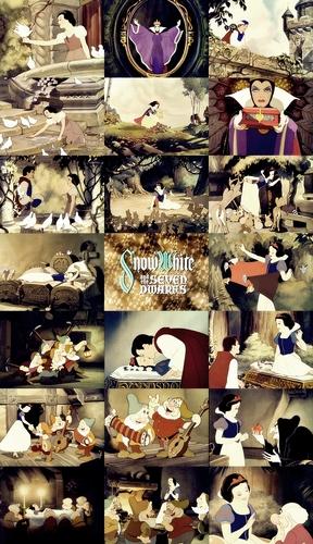 Disney Princess movie collage