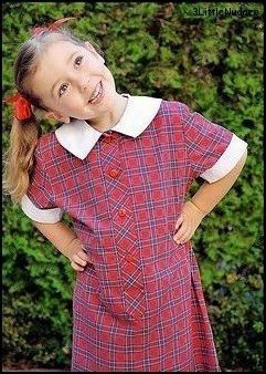 Gemma in her school uniform
