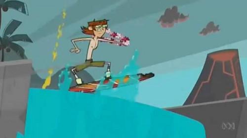 Harold surfing