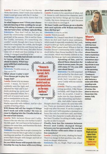 House - TV Guide Scans - House, Huddy, Cuddy