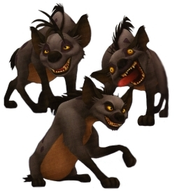 Hyenas from Lion King karatasi la kupamba ukuta with a triceratops entitled Hyenas in Kingdom of Hearts