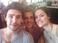 Jaimie & Matt having lunch and fun (2010) - jaimie-alexander-and-matt-dallas photo