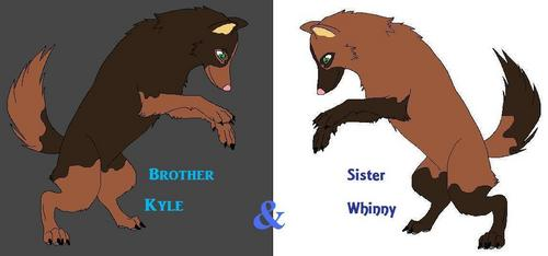 Kyle and Whnny(Wolf forms)