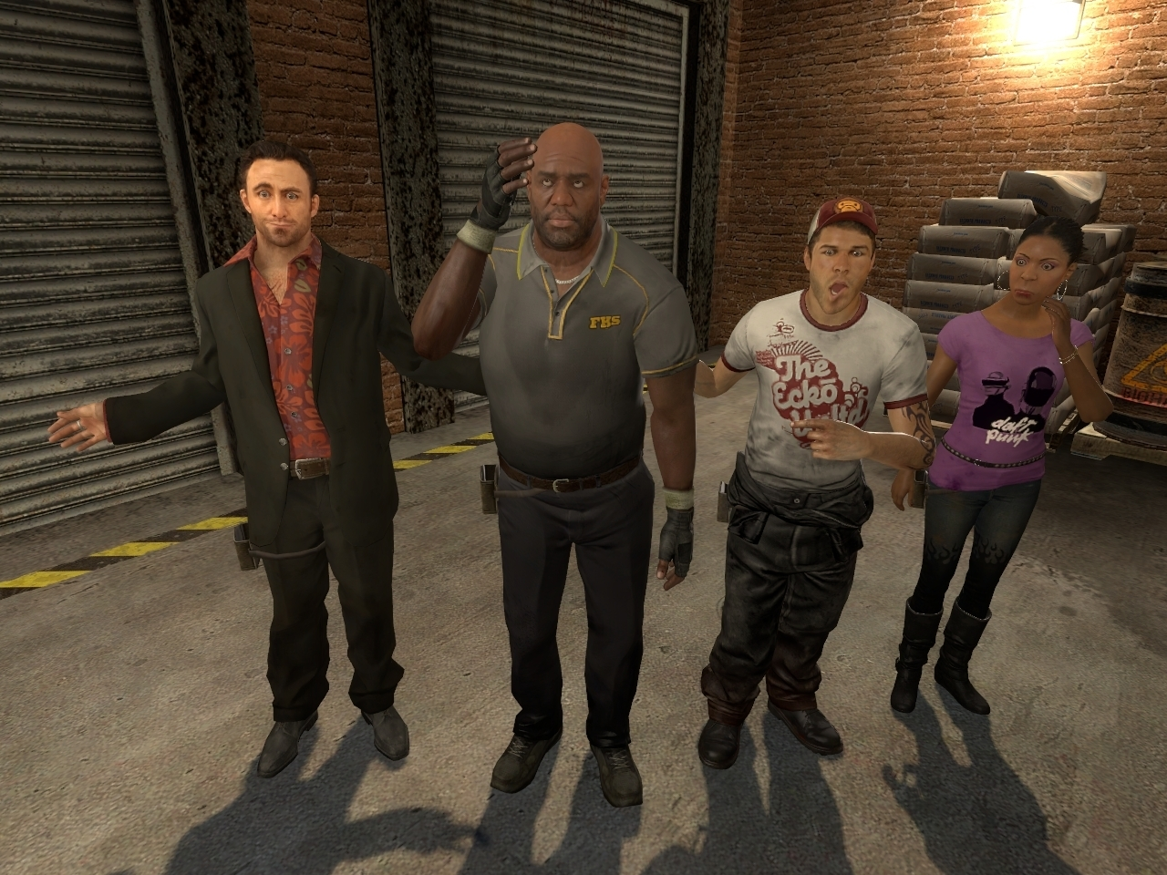 The gang together