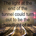 Light at the end - quotes icon