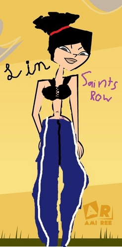 Total Drama Island Hintergrund probably with Anime called Lin fROM Saints Row TDI form