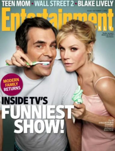 télévision fond d'écran probably containing a portrait called Modern Family 'Entertainment Weekly' Cover