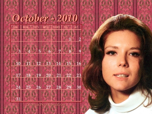 October 2010 Emma (v1-calendar) - diana-rigg Wallpaper