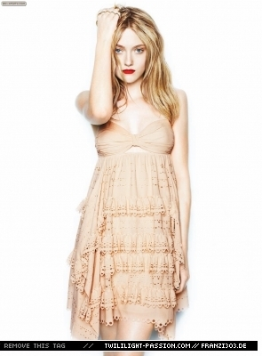 Outtakes Of Dakota Fanning In Flare Magazine
