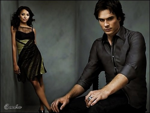 Damon & Bonnie wallpaper possibly containing a well dressed person entitled Perfect Couple