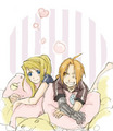 Pillow - edward-elric-and-winry-rockbell fan art