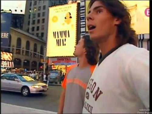 Rafa and Carlos Moya for the first time in New York!