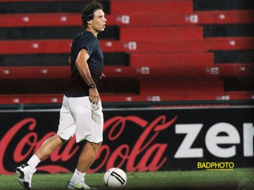Rafa is a footballer!