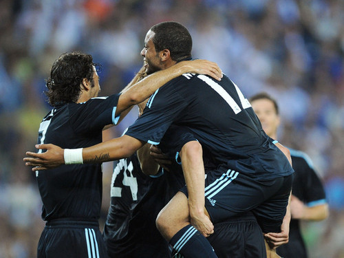 Real Madrid in action