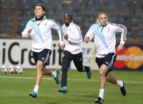 Real Madrid practicing