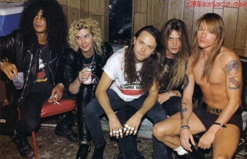 Sebastian Bach,duff mckagan,Slash,Axl Rose,Lars Ulrich