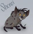 Shenzi as a puppy - hyenas-from-lion-king fan art