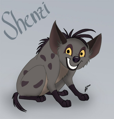 Hyenas from Lion King karatasi la kupamba ukuta called Shenzi as a puppy