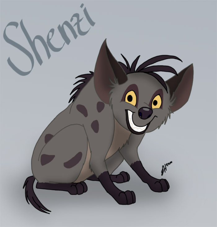 Shenzi as a tuta