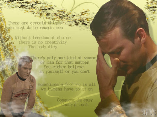 Star Trek TOS Kirk and His Words - star-trek Wallpaper