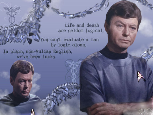 bintang Trek TOS McCoy and His Words
