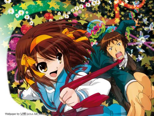 The Melancholy of Haruhi Suzumiya wallpaper probably with anime called The Melancholy of Haruhi Suzumiya