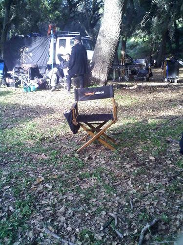 Thomas' chair on the CM set