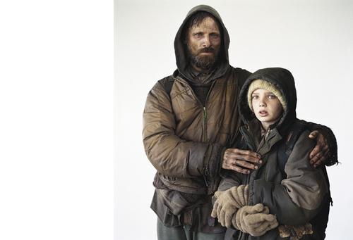 """Viggo Mortensen and Kodi Smit-McPhee, """"The Road"""", Erie, PA, 2008"""