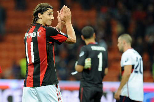 Zlatan playing for Milan - zlatan-ibrahimovic Photo