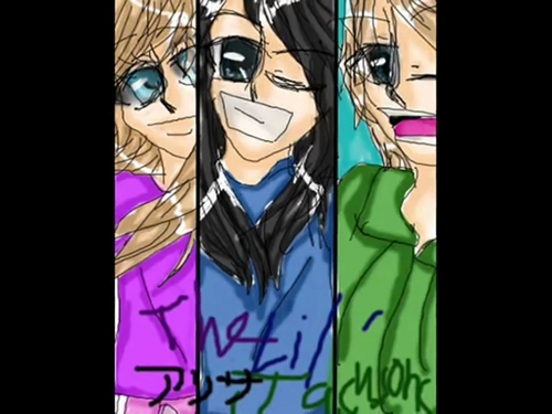 the jackson 3 achtergrond with anime entitled art