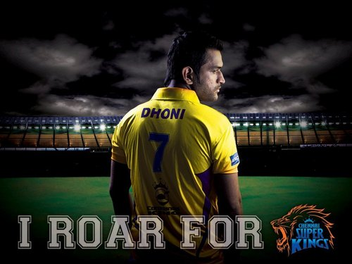CSK- Chennai super kings fondo de pantalla containing a tenis pro, a tenis player, and a postigo, wicket entitled dhoni rocks