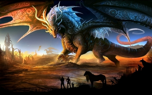 fantasi wallpaper with a triceratops entitled fantasi naga