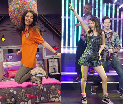 विक्टोरीया जस्टीस वॉलपेपर containing hosiery, bare legs, and a hip boot called iCarly VS Victorious!;)