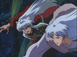 inuyasha n sesshomaru fighting