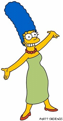 Gia đình Simpson hình nền probably with anime entitled marg simpson