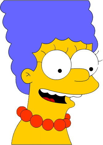 The Simpsons پیپر وال with عملی حکمت called marg simpson